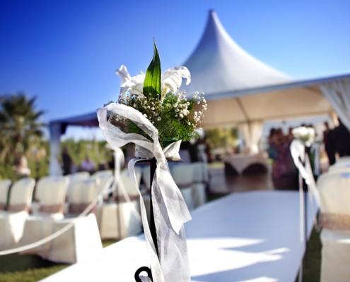Hochzeiten | Tisch Outdoor eingedeckt